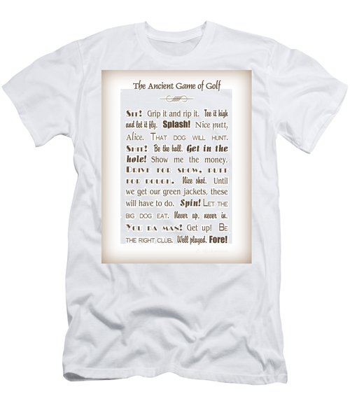 The Ancient Game Of Golf - Sepia Men's T-Shirt (Athletic Fit)