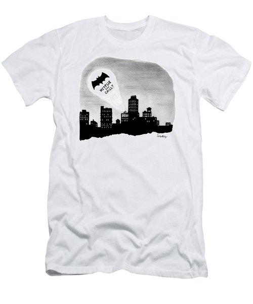 The Bat Signal Says Netflix And Chill? Men's T-Shirt (Athletic Fit)