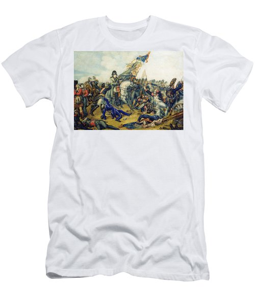 The Battle Of Waterloo In 1815, 1831 Wc & Ink On Paper Men's T-Shirt (Athletic Fit)