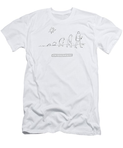 The Beginning Of Nostalgia -- The Ascent Of Man Men's T-Shirt (Athletic Fit)