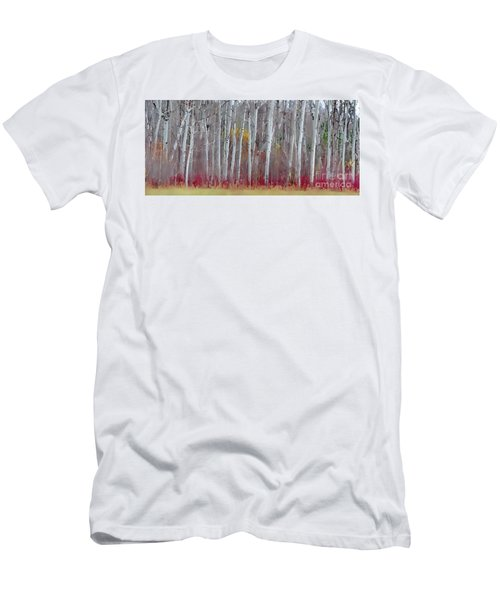 The Birches Panorama  Men's T-Shirt (Slim Fit) by Andrea Kollo