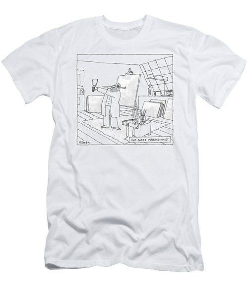 The Bored Impressionist An Artist Holds A Mirror Men's T-Shirt (Athletic Fit)