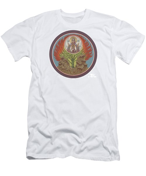 Men's T-Shirt (Slim Fit) featuring the painting The Burning Bush 249 by William Hart McNichols