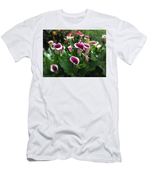 The Calla Lilies Are In Bloom Again Men's T-Shirt (Slim Fit) by Mark David Gerson