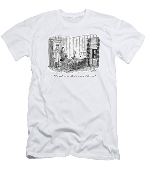 The Candy On The Pillow Is A Nicety Of The House Men's T-Shirt (Athletic Fit)