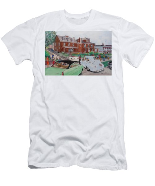 The Car Movers Of Phi Sigma Kappa Osu 43 E. 15th Ave Men's T-Shirt (Slim Fit) by Frank Hunter