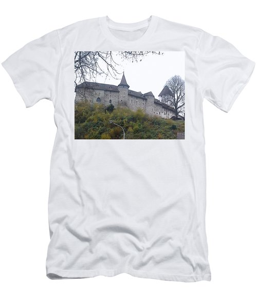 Men's T-Shirt (Slim Fit) featuring the photograph The Castle In Autumn by Felicia Tica
