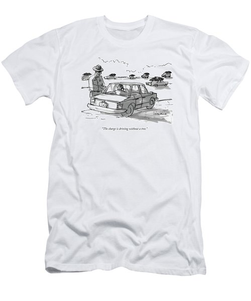 The Charge Is Driving Without A Tree Men's T-Shirt (Athletic Fit)