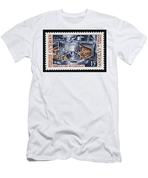 The Chocolate Factory Vintage Postage Stamp Men's T-Shirt (Athletic Fit)