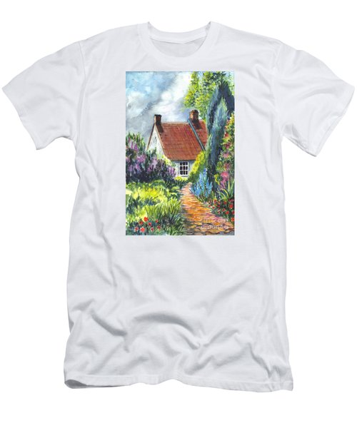 The Cottage Garden Path Men's T-Shirt (Slim Fit) by Carol Wisniewski