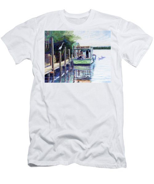 Men's T-Shirt (Slim Fit) featuring the painting The Crabby Kim by Roger Rockefeller