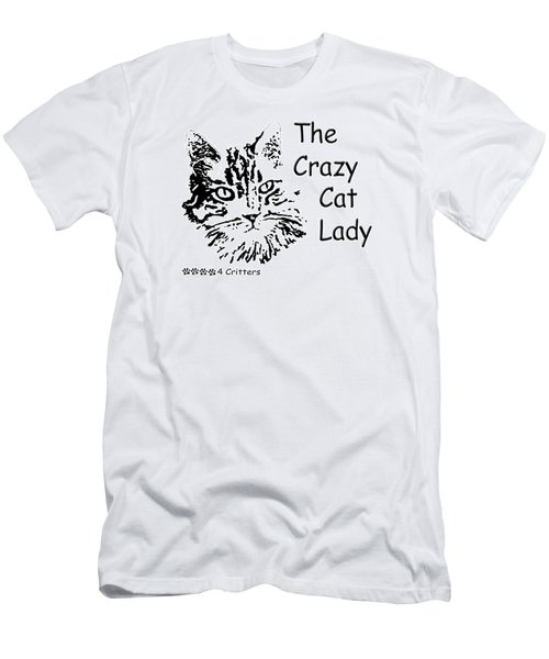 The Crazy Cat Lady Men's T-Shirt (Athletic Fit)