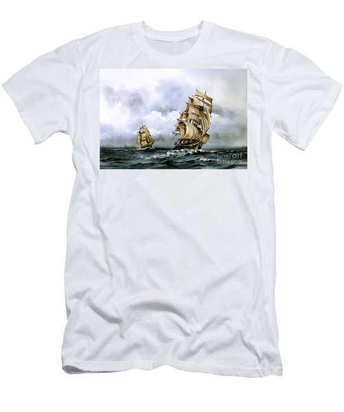 The Cutty Sark And The Red Clipper Men's T-Shirt (Athletic Fit)