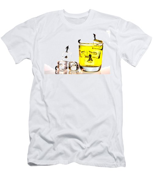 The Diving Little People On Food Men's T-Shirt (Athletic Fit)