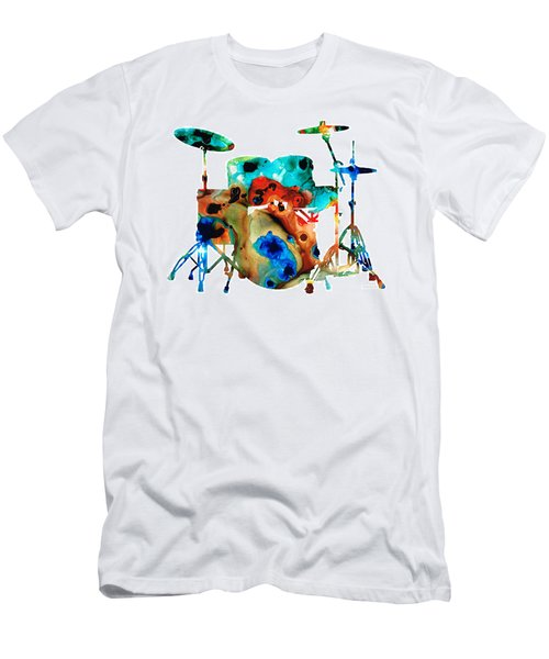 The Drums - Music Art By Sharon Cummings Men's T-Shirt (Athletic Fit)