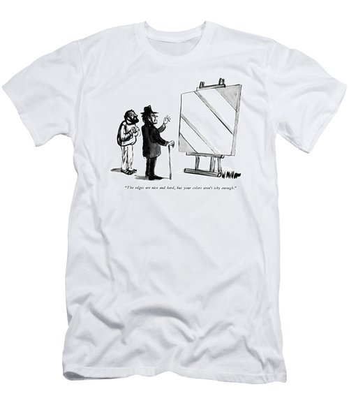 The Edges Are Nice And Hard Men's T-Shirt (Athletic Fit)
