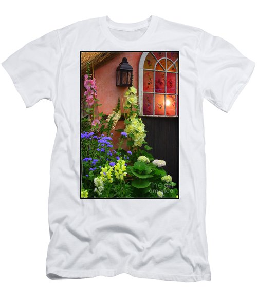 The English Cottage Window Men's T-Shirt (Slim Fit) by Dora Sofia Caputo Photographic Art and Design