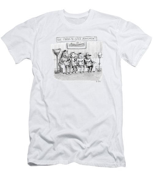 The Farm-to-sofa Movement Men's T-Shirt (Athletic Fit)