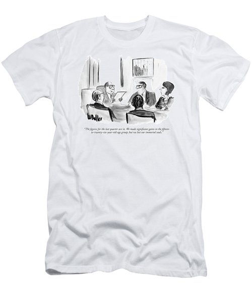The Figures For The Last Quarter Are In. We Made Men's T-Shirt (Athletic Fit)