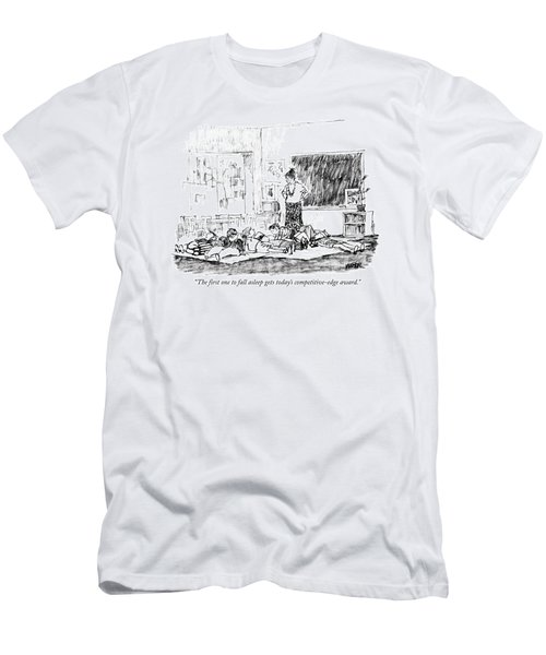 The First One To Fall Asleep Gets Today's Men's T-Shirt (Athletic Fit)