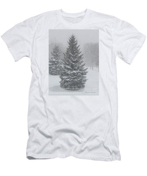 The First Snow Of Christmas Men's T-Shirt (Athletic Fit)