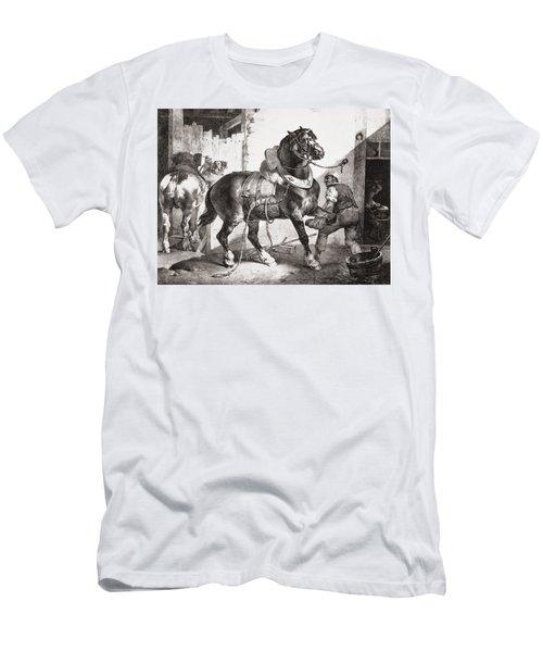 The Forge, From Etudes De Cheveaux, 1822 Men's T-Shirt (Athletic Fit)