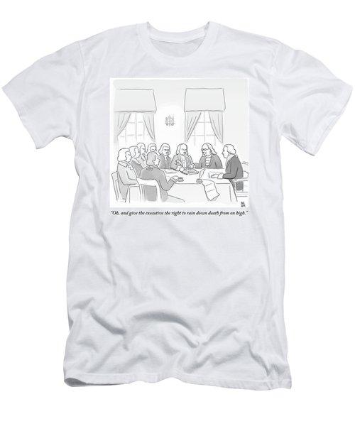 The Founding Fathers Drafting The Constitution Men's T-Shirt (Athletic Fit)