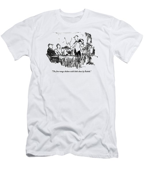 The Free-range Chicken With Little Shoes Men's T-Shirt (Athletic Fit)