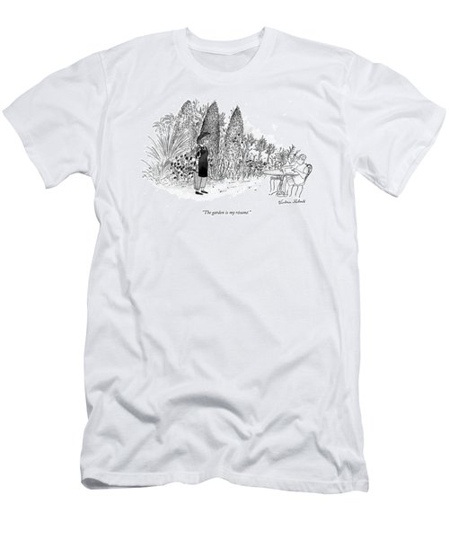 The Garden Is My Resume Men's T-Shirt (Athletic Fit)