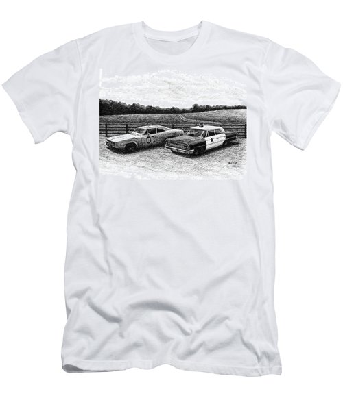 The General Lee And Barney Fife's Police Car Men's T-Shirt (Athletic Fit)