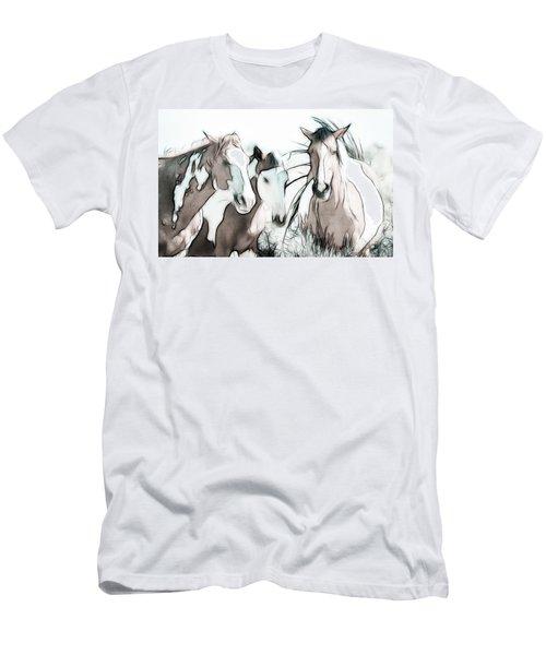 The Horse Club Men's T-Shirt (Slim Fit) by Athena Mckinzie