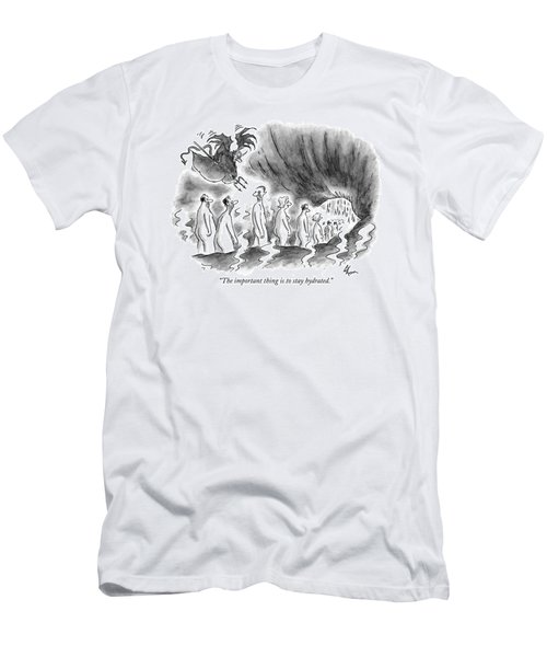 The Important Thing Is To Stay Hydrated Men's T-Shirt (Athletic Fit)