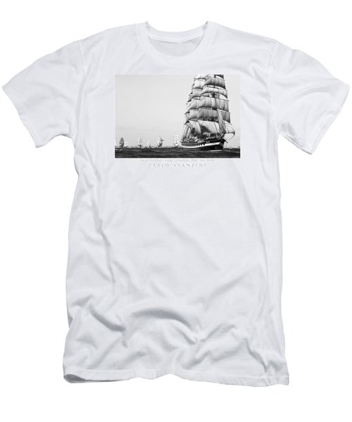 The Kruzenshtern Departing The Port Of Cadiz Men's T-Shirt (Athletic Fit)
