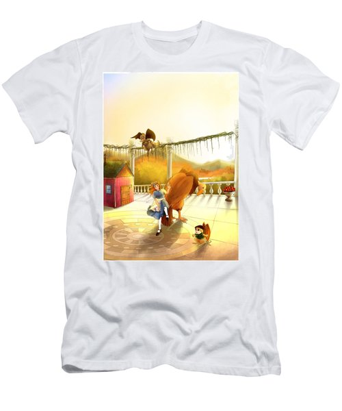 The Landing On The Balcony  Men's T-Shirt (Athletic Fit)