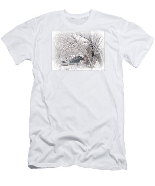 Men's T-Shirt (Slim Fit) featuring the photograph The Last Snow Storm by Kay Novy