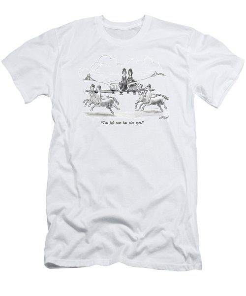 The Left Rear Has Nice Eyes Men's T-Shirt (Athletic Fit)