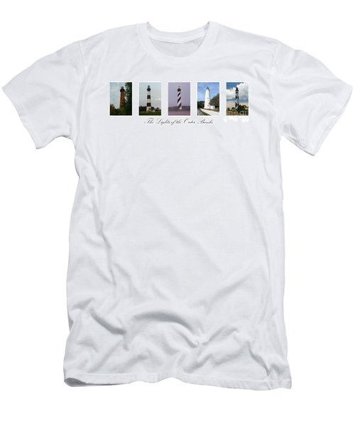 The Lights Of The Outer Banks Men's T-Shirt (Slim Fit) by Tony Cooper