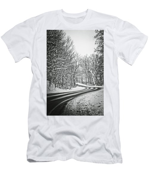 The Long Road Of Winter Men's T-Shirt (Slim Fit) by Sara Frank