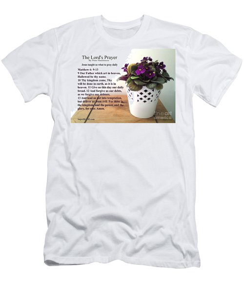The Lords Prayer Men's T-Shirt (Athletic Fit)