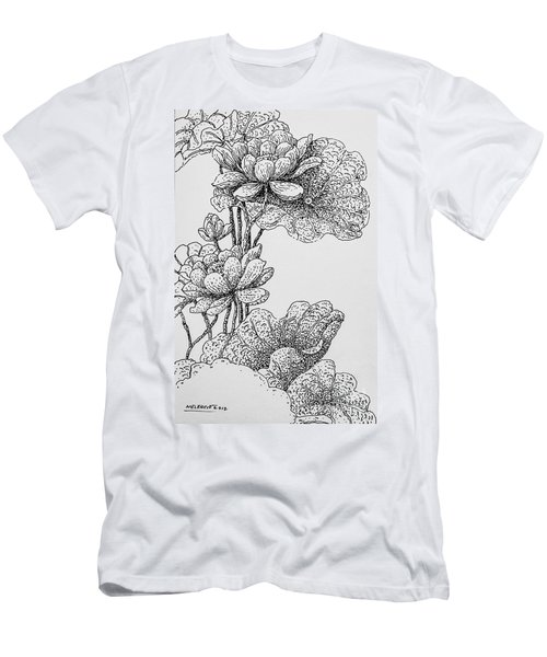 The Lotus Flower Men's T-Shirt (Athletic Fit)