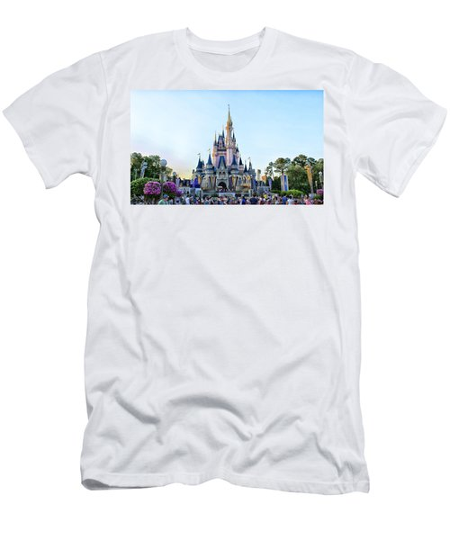 The Magic Kingdom Castle On A Beautiful Summer Day Horizontal Men's T-Shirt (Athletic Fit)