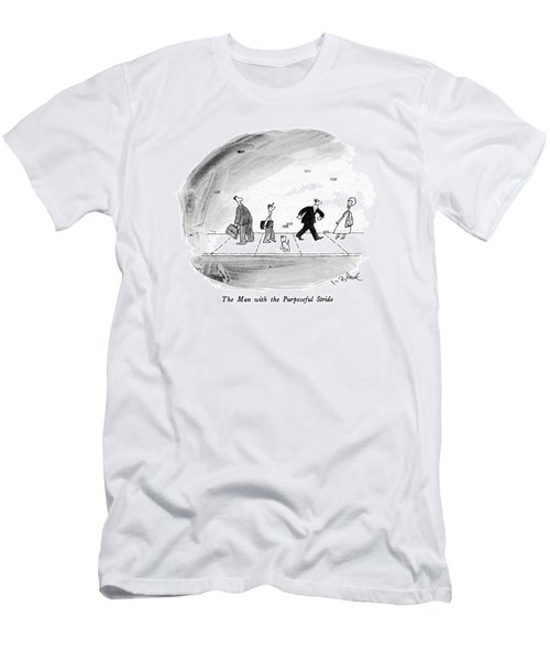 The Man With The Purposeful Stride Men's T-Shirt (Athletic Fit)