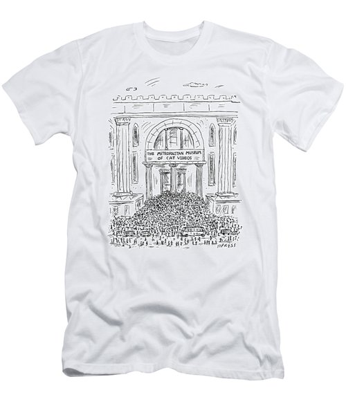 The Metropolitan Museum Of Cat Videos Thronged Men's T-Shirt (Athletic Fit)