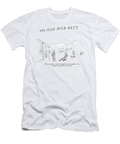The Mild Mild West. A Cowboy In A Western Setting Men's T-Shirt (Athletic Fit)