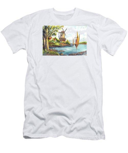 The Olde Mill Men's T-Shirt (Slim Fit) by Carol Wisniewski