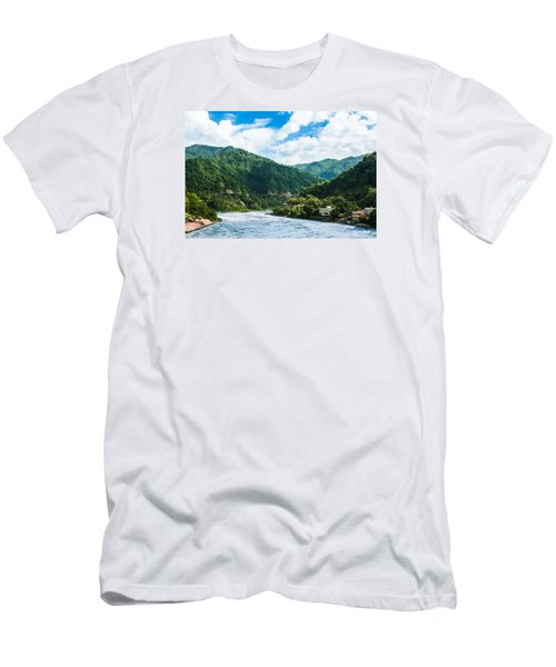 The Mountain Valley Of Rishikesh Men's T-Shirt (Athletic Fit)
