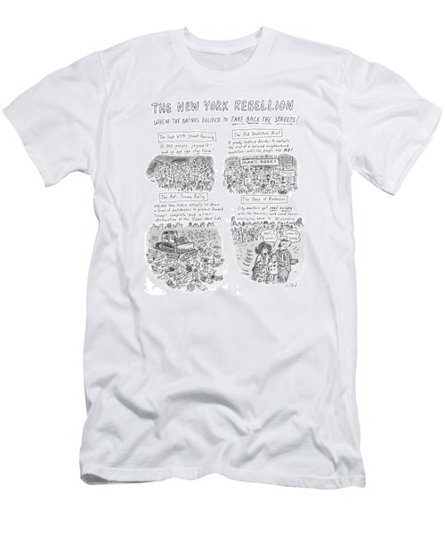 'the New York Rebellion' When The Natives Decided Men's T-Shirt (Athletic Fit)
