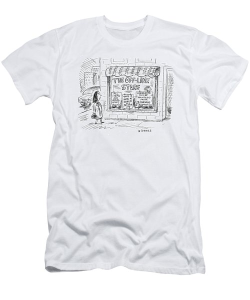 The Off-line Store Men's T-Shirt (Athletic Fit)