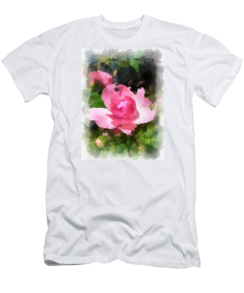 Men's T-Shirt (Slim Fit) featuring the photograph The Rose by Kerri Farley