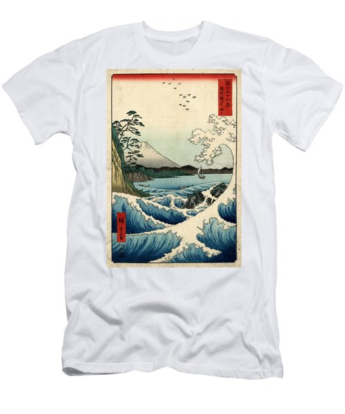 The Sea At Satta In Suruga Province Men's T-Shirt (Athletic Fit)